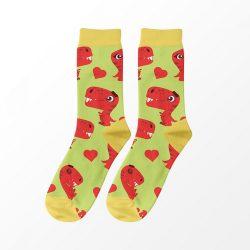 T-rex szerelem férfi zokni