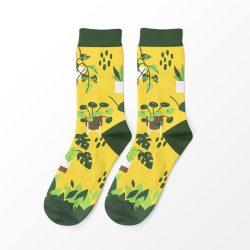 Szobanövények férfi zokni